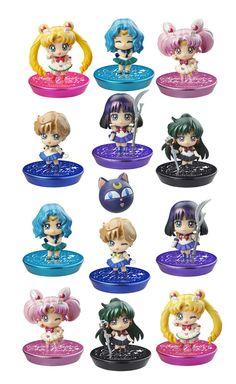 Sailor Moon Petit Chara Pretty Soldier Sammelfiguren 6 cm New Soldiers Glitter Ver. Sailor Moon - Hadesflamme - Merchandise - Onlineshop für alles was das (Fan) Herz begehrt!