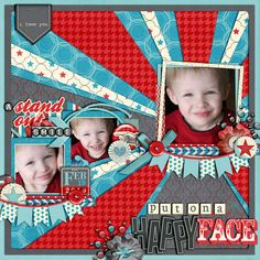 bright, vibrant colors and fun pattern mix circus layout with Trey and family