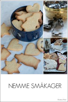 Nemme småkager. opskrift Danish Christmas, Scandinavian Christmas, Cake Recipes, Dessert Recipes, Desserts, Gingerbread Cookies, Christmas Cookies, Good Food, Yummy Food