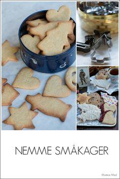 Nemme småkager. opskrift Cake Recipes, Dessert Recipes, Desserts, Gingerbread Cookies, Christmas Cookies, Danish Christmas, Scandinavian Christmas, Good Food, Yummy Food