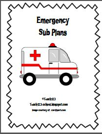 Emergency sub plans and a free printable