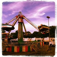 colorful carnival ride by DagmarBleasdale.com