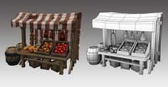 medieval market stall - Google Search