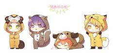 Neko Boy, Chibi Boy, Kawaii Chibi, Anime Chibi, Chibi Couple, Fanart, Kuroko, Vocaloid, Kids Room