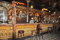 The amazing and original Crown Bar in Belfast