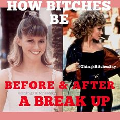 before and after a break up