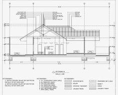 Contoh Gambar Potongan Rumah Minimalis menggunakan Autocad - Griya Bagus Structural Drawing, Hip Roof, Site Plans, Co Working, Wooden House, Microsoft Excel, House Roof, Tropical Houses, Civil Engineering