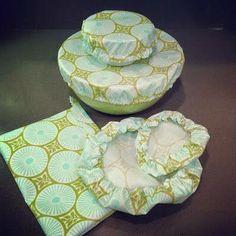 Tampas em tecido para potes de cozinha e outros