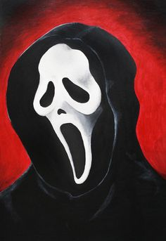 After painting Leatherface, I wanted to do something easy...so I decided to do Ghostface. Not sure why, but I find him cute in a way ref used. Take a look at the other guys too Mr. Nightmare Mr. Pa...