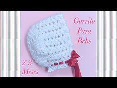 Gorrito o capota para bebe 2-3 meses en gancho fácil y rápido #114 - YouTube