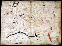 Angelino Dulcert portolán térképe 1339-ből