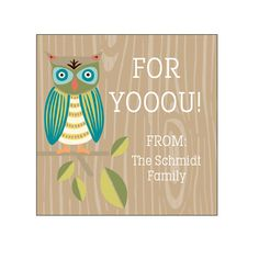Owls Gift Tag Label