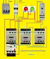 Esquemas eléctricos: Esquema eléctrico maniobra estrella triángulo