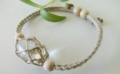 Hemp pouch bracelet