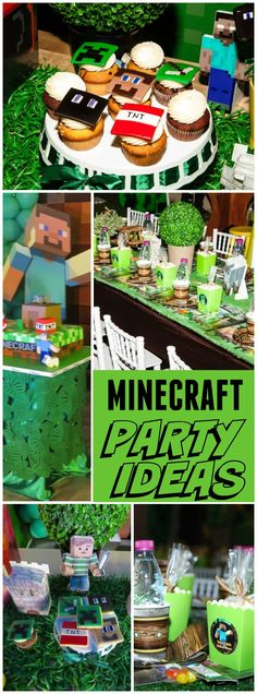 You have to see this awesome Minecraft party! See more party ideas at CatchMyParty.com!