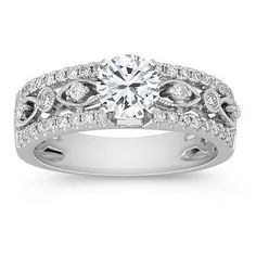 Round Diamond Engagement Ring   For more great Diamond Engagement Rings see: http://engagement-rings-specialists.com  #Diamond #engagement #Rings