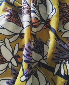 Loving the colours and print in my new scarf from White Stuff UK - What a great statement accessory!
