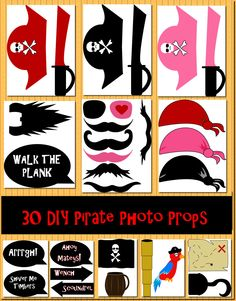 Instant Download DIY 30 Pirate Photo Booth by DigitalConfectionery