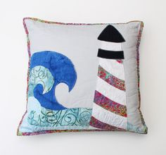 Lighthouse Applique Pillow Pattern Digital by stickysugarstitches