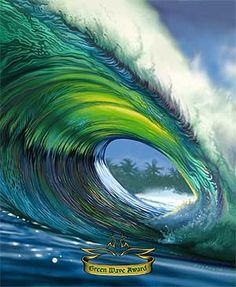 painting of wave by Rick Rietveld