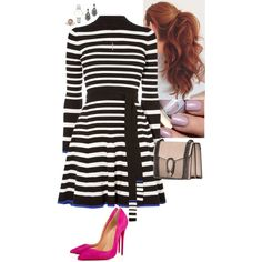 Untitled #381 by stinze on Polyvore featuring Karen Millen, Christian Louboutin, CLUSE and Tiffany & Co.
