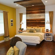 Floor To Ceiling Wall Headboard Design Ideas, Pictures, Remodel, and Decor - page 2
