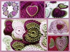 Free crochet heart pattern courtesy of the very generous Barbara summers. Link to flickr then to MiCrocknit Creations blog.