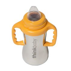 The Thinkbaby Sippy of Steel smoothly transitions your little one from bottle feeding to a big kid sippy cup.