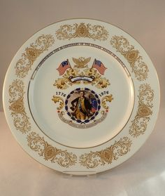 """Vintage 1970s Aynsley American Bi-Centenary Commemorative Plate – 11"""" by FelthamAntiques on Etsy"""