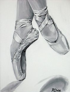Ballet Print On Pointe by rachelledyer on Etsy, $20.00