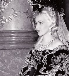 "Closeup of Gladys George as Madame Dubarry in ""Marie Antoinette"" (1938)"