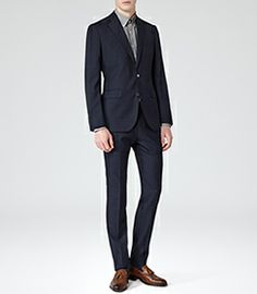 077528cc2a57f Mens Indigo Two Piece Pick Stitch Suit - Reiss Riva Mens Sale