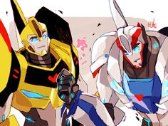 Old friends - I NEED to see Smokescreen in Robots in Disguise! Heck, I need to…