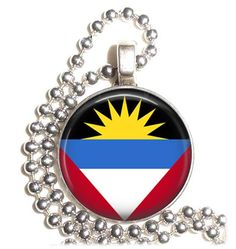 Antigua & Barbuda Flag Art Pendant Earrings and/or by YessiJewels