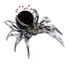 Steampunk Spider Pin Cushion by CatherinetteRings.deviantart.com on @deviantART