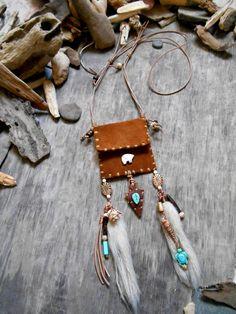 Joli collier inspiration Native American SAC par Minouchkita