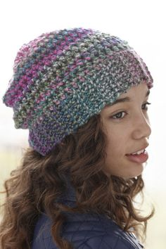 Metropolitan Ave. Hat free pattern from Lion Brand Yarns