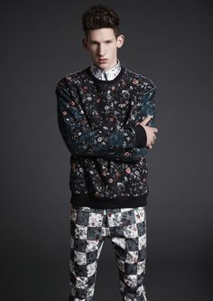 McQ Alexander McQueen Mens AW13  There's a lil much goin on here, but I really dig the sweater and pants. I'd prolly keep them seperate, but who knows.
