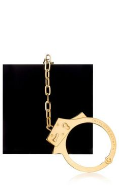 Kinky Clutch In Black by Charlotte Olympia for Preorder on Moda Operandi