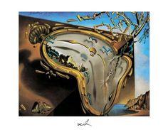 Dali - Montre Molle Mini Poster by Dalí, Salvador 20 x Salvador Dali Gemälde, Salvador Dali Paintings, Dali Prints, Poster Prints, Art Print, Cronos Y Kairos, Dali Clock, Clock Art, Art History