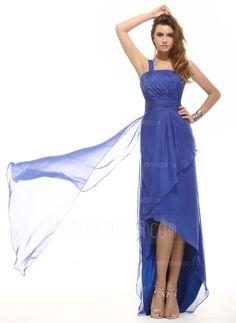 A-Linie/Princess-Linie One-Shoulder-Träger Asymmetrisch Chiffon Festliche Kleid mit Rüschen (020016071)