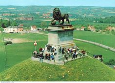 The Lion Monument Waterloo - Climb the 226 steps on the hill to the immense Butte du Lion overlooking the battlefield of Waterloo Waterloo Battlefield, Waterloo Belgium, Lion Monument, Luxembourg, Anne Frank, Train Rides, Brussels, Netherlands, Places Ive Been