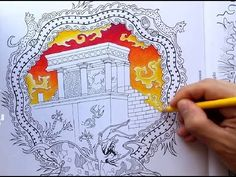 Speed Colouring ~ Greece Colouring Book (Knossos) - YouTube