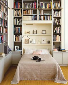 shelving around bed | Shabby Chic Bedroom Ideas for Women | #shabby #chic #shabbychic #bedroom