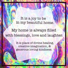 Joyful home! #affirmation #visualization More