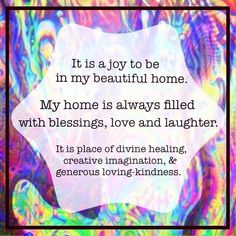 Joyful home! #affirmation #visualization