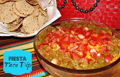 Fiesta Taco Dip!  FoodThoughtsOfaChefWannabe.com