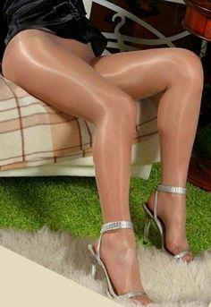 pantyhose boots Shiny