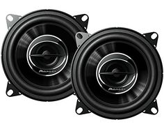 Pioneer TS-G1045R Dual Cone 4-Inch 210 W 2-Way Speakers-Set of 2. For product info go to:  https://www.caraccessoriesonlinemarket.com/pioneer-ts-g1045r-dual-cone-4-inch-210-w-2-way-speakers-set-of-2/