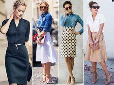 Aprenda a montar looks incríveis com saias com camisa! Saias longas e curtas, não importa! Nós mostramos como combinar seu visual!